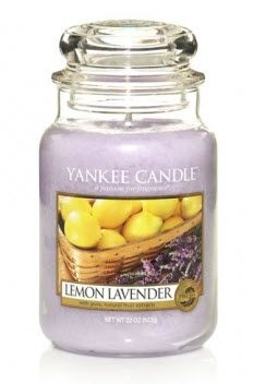 Lemon and lavander Yankee Candle scent.