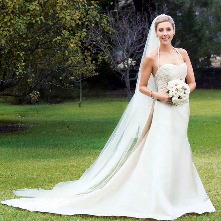 Catriona Rowntree marries James Pettit, dress designed by Adam Dixon.