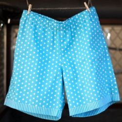 Sew a full underlinings short pants for the weekend {with free pattern & tutorial}.