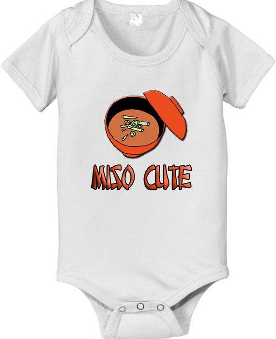 Miso cute funny Japanese baby infant bodysuit by CustomTeesForTots, $14.25