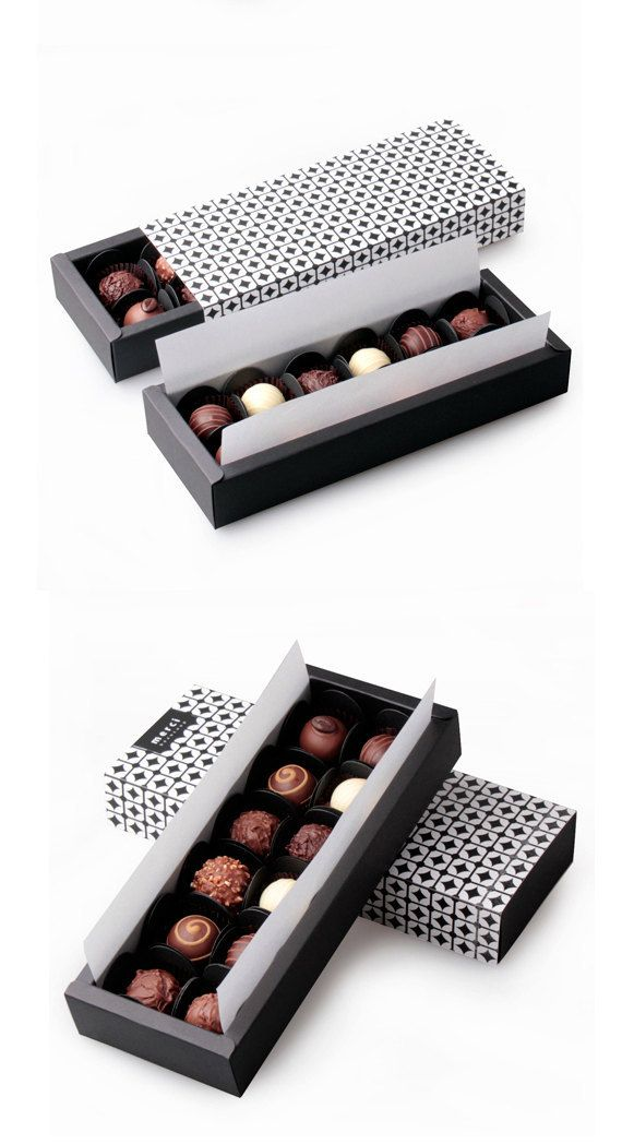 Black Chain Chocolate Box Set 2boxesSelect Size by glassnam