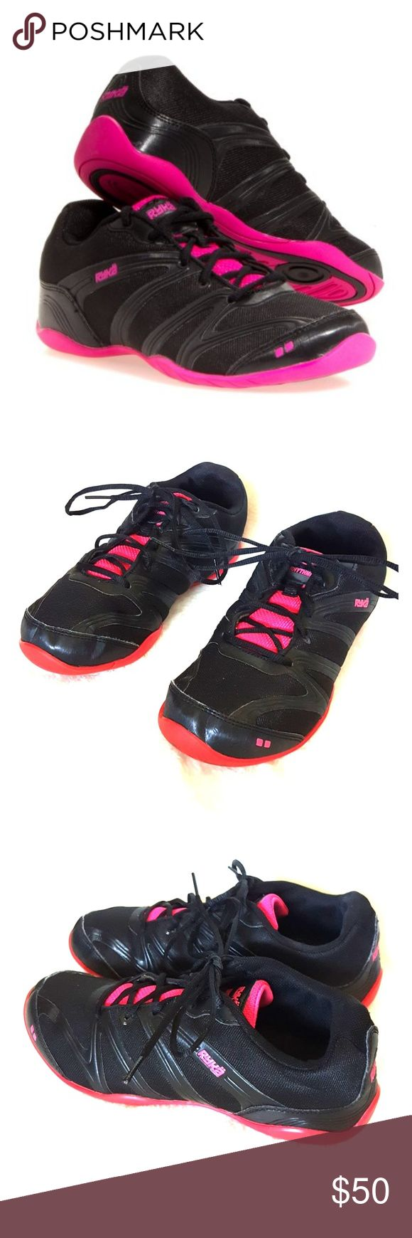 Ryka Black/Athena Pink Rhythmic Plus Sneakers Brand: Ryka. Color: Blacl, Pink. Size (Women's): 8.5. Style: Dress. Features an injected molded footbed, removable compression molded EVA internal midsole. Gently worn minor wear. Buyers can expect: Careful packaging, Fast shipping, & Delivery confirmation with each item purchased! PET FREE HOME & SMOKE-FREE HOME. Please note: Due to lighting and monitors, the items colours may be slightly differ with the picture. Ryka Shoes Sneakers
