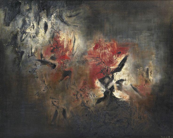 Zao Wou-Ki (Zhao Wuji) (1920-2013), Abstraction - 1958