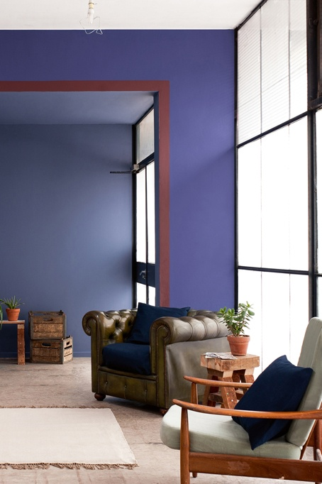 Violet Dulux Inspired Violet Blue Wall Color