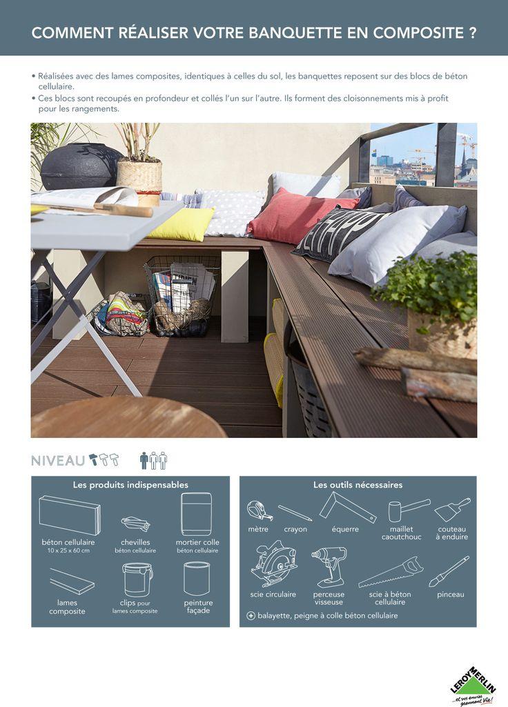 17 meilleures id es propos de b ton cellulaire sur pinterest bloc beton c - Banquette beton cellulaire ...