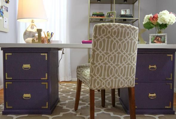 Use carpenter Thad Mills' instructions to build a desk with wooden filing cabinets.