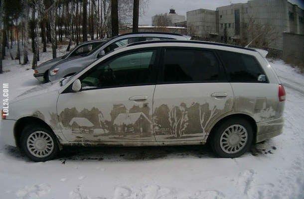 Nie zostawiaj brudnego samochodu pod ASP #brudny #samochód #ASP