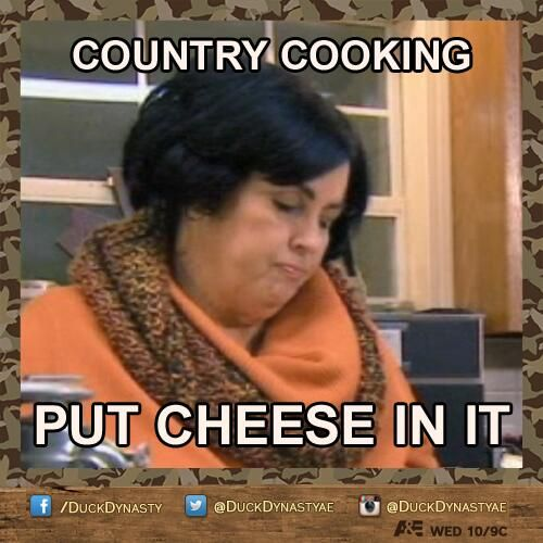 All this Duck Dynasty is making me hungry for some Miss Kay cooking!