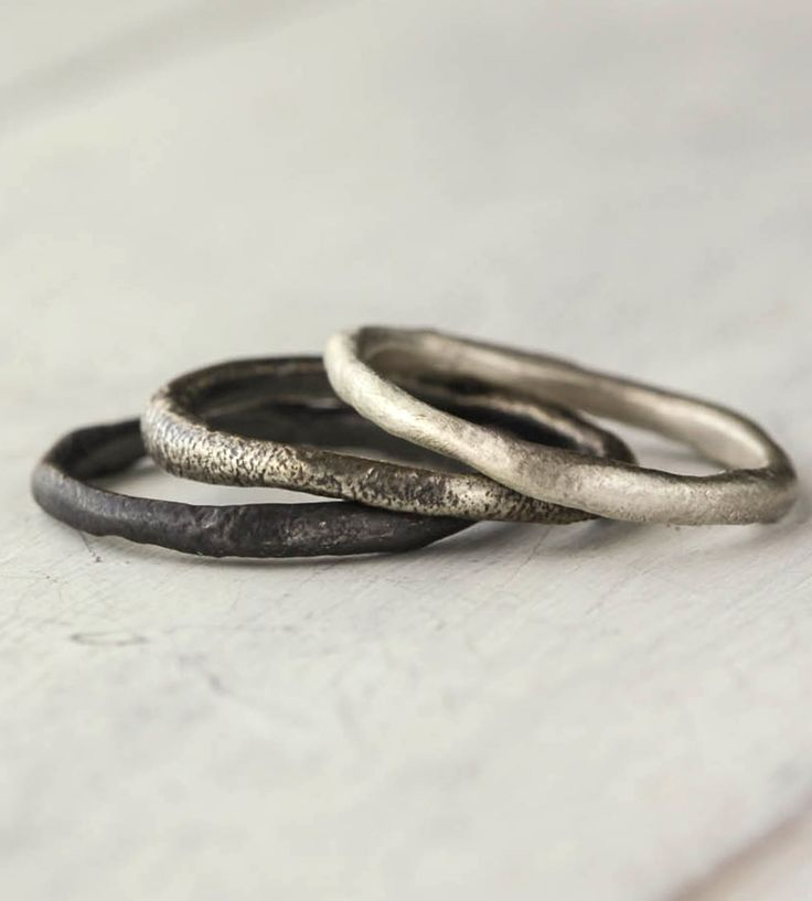 Free-Formed Sterling Silver Stacking Rings – Set of 3 | Jewelry Rings | 36ten | Scoutmob Shoppe | Product Detail