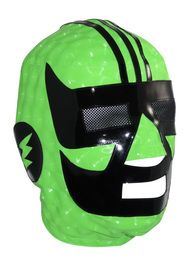 THUNDERMAN Pro LYCRA Mexican Lucha Libre Wrestling Mask (pro-fit) Hot Green