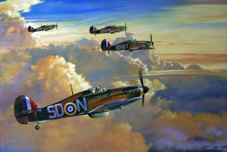 Hawker Hurricane Mk I, 501 Sqn. RAF, August 1940, by Spike Wademan.