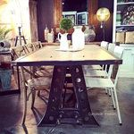 Protractor Eiffel Industrial Dining Table