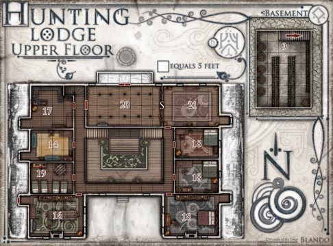 Hunting lodge upper floor 486 360 rise of for Hunting lodge building plans