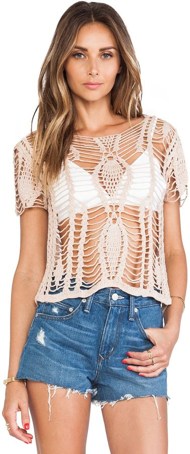 Tularosa Darcy Crochet Top on shopstyle.com