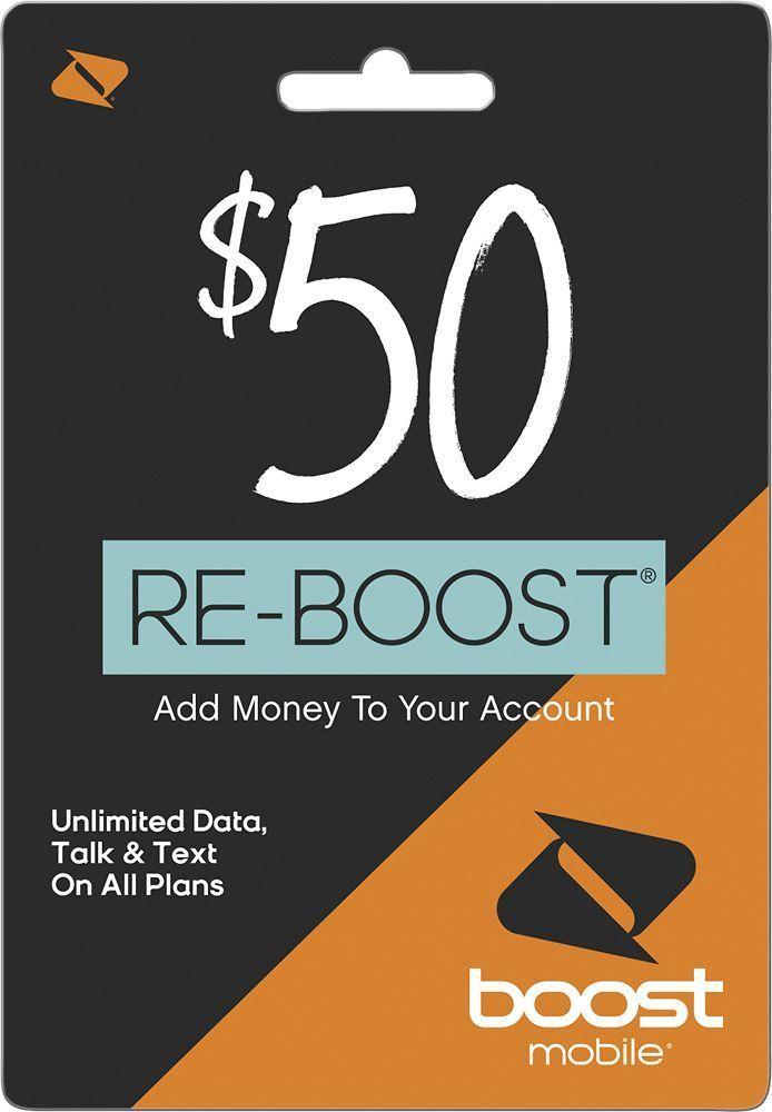 Boost Mobile - Re-Boost Broadband $50 Prepaid Phone Card, BOOST MOBILEROADBAND 2016 $50 #BoostMobilePhones