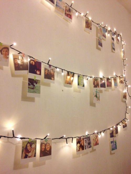 Decoratie met kerstverlichting: de fotoslinger