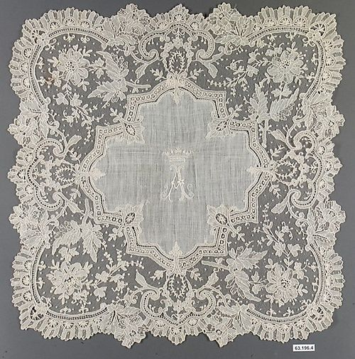 French needle lace,1875-89