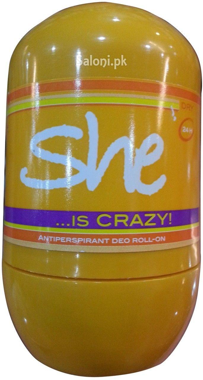 HUNCA SHE IS CRAZY ROLL-ON DEODORANT 40 ML Saloni™ Health