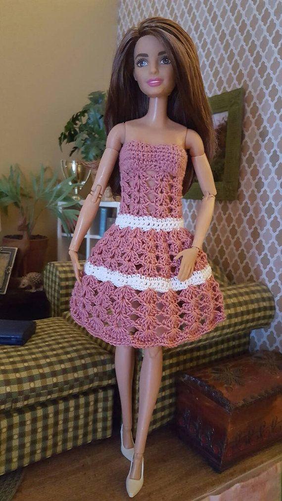Summer Dress for Barbie | Patrones De Ganchillo | Pinterest | Patrón ...