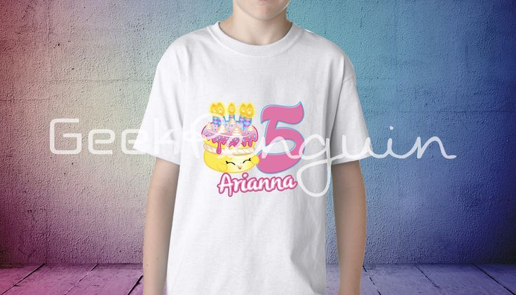 #Shopkins Birthday, Shopkins Birthday Shirt, Girls Birthday Shirt, Personalized Shirt