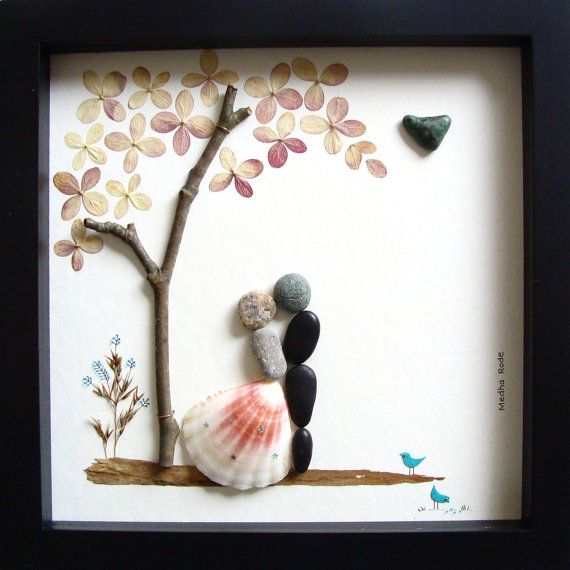 Unique Wedding Gift Personalized Wedding Gift Pebble Art