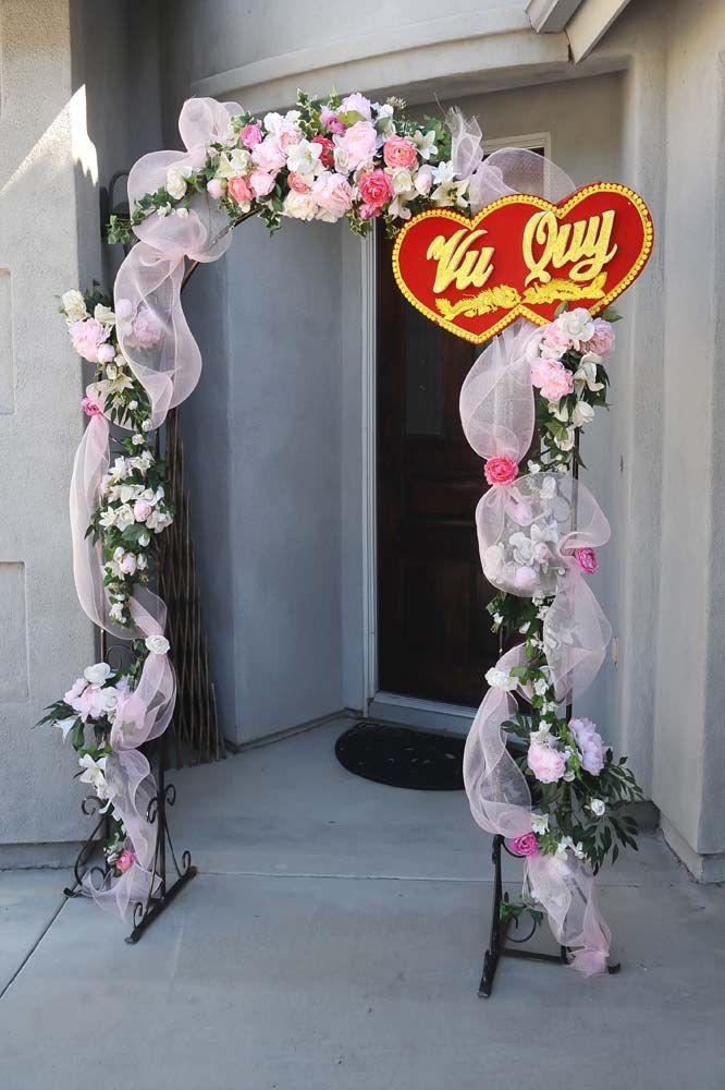 29 best vietnamese wedding tea ceremony images on pinterest tea beautifully decorated arch for tea ceremony junglespirit Gallery
