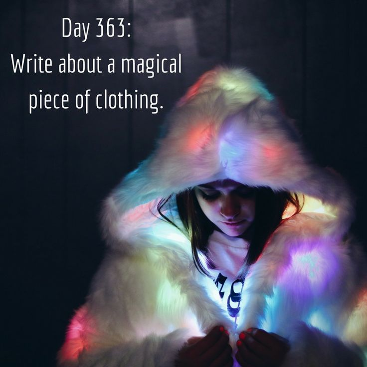 Day 363 of 365 Days of Writing Prompts: Write about a magical piece of clothing. Shannon: They were giving away the gloves at the shelter. I just grabbed a pair to keep my hands warm while I walked…