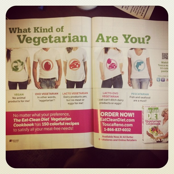 Did you know there are many types of vegetarian! @toscareno has something for everyone in the ECD veggies cookbook. What kind are you? - @eatcleandiet- #webstagram