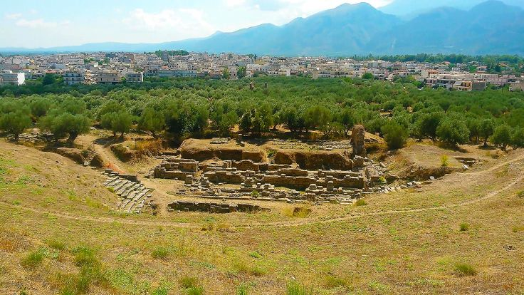 The ruins of the ancient theatre in Sparta.                  #greece #peloponnese #laconia #ancienthistory #ancientgreece #archaeology