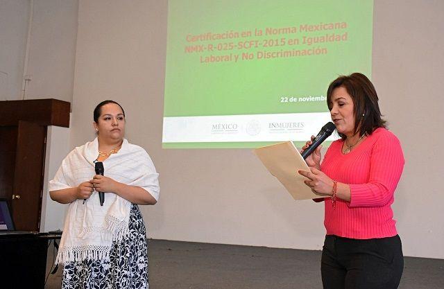 Personal del Instituto Nacional de las Mujeres acudió a la Presidencia Municipal de Gómez Palacio para capacitar al personal, sobre la N...