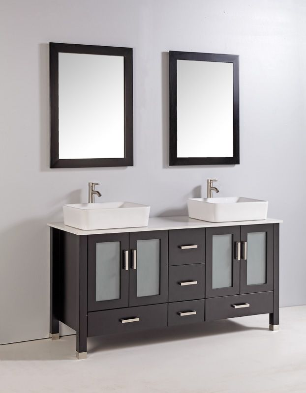 Best Vanities Images On Pinterest Bathroom Ideas Bath - Double vanity with two mirrors