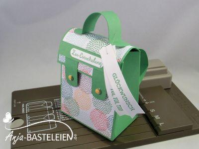 Stanz- und Falzbrett für Geschenktüten - Schultasche