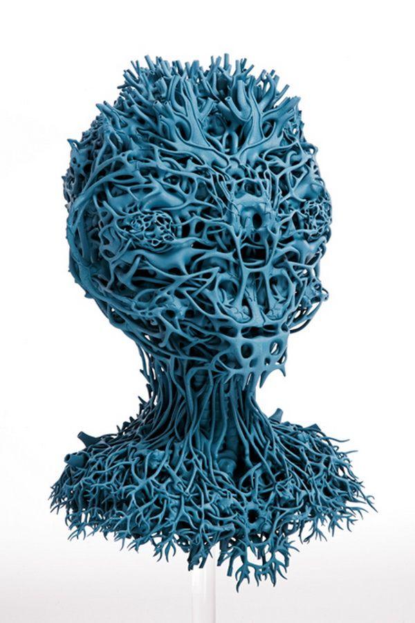 Print3d World: Las esculturas orgánicas de Nick Ervinck #3dPrintedSculpture