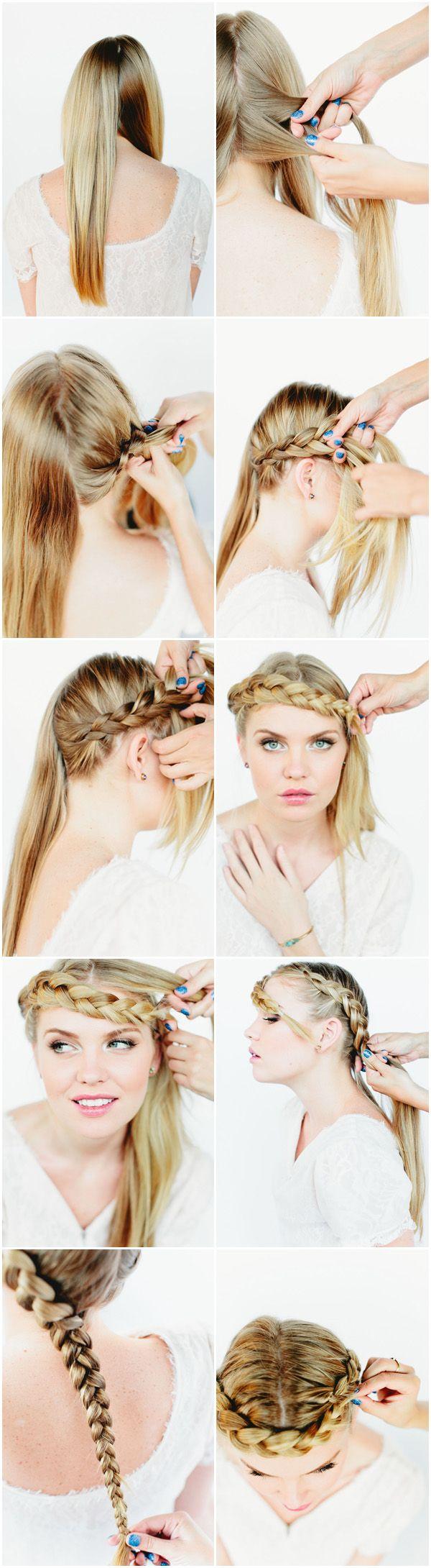 Um penteado supercharmoso para você divar essa noite! ;) #hairstyle #hair #diy #tutorial