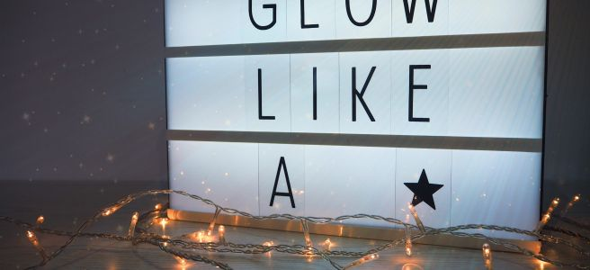 Swish My Swag glow like a star motivation positivity quote light box