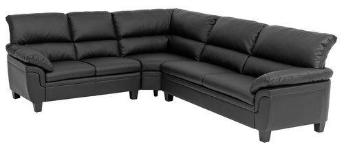 Sidste nye Hjørnesofa BRANDE svart | JYSK | Home | Sofa, Couch, Furniture EU-63