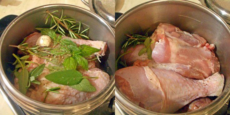 Tacchino in pentola a pressione ricetta secondi di carne senza olio buona e sana pronta in breve tempo senza spreco di energia e conservando le proprietà