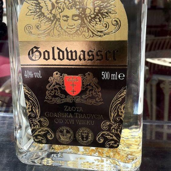 Famous Goldwasser (Gold Water) in Gdansk -  16th century liquor with golden flakes: | ✋☂  PL ham block  https://de.pinterest.com/andrzej9056/polish-regional-vodka/