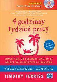 Timothy Ferriss zdradzi Ci #sekret mądrej #pracy, która w założeniu ma trwać tylko 4h tygodniowo. Nie oznacza to jednak gorszych zarobków albo życia w biedzie - wręcz przeciwnie - autor książki chce nauczyć Cię pracy, która zapewni Ci rezydualny dochód i wolność finansową. #finanse #financialfreedom Do kupienia na merlin.pl - 38,49zł koszt płyty CD