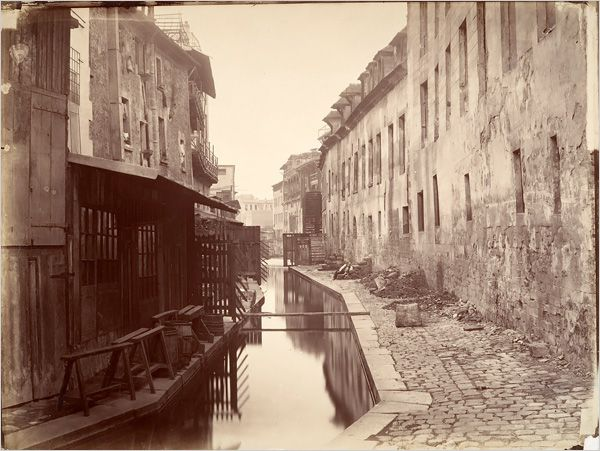La rivière de la Bièvre : Charles Marville en1865