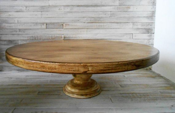 Rustic Pedestal Cake Stand  21 Inches Round Pedestal by AtticJoys1
