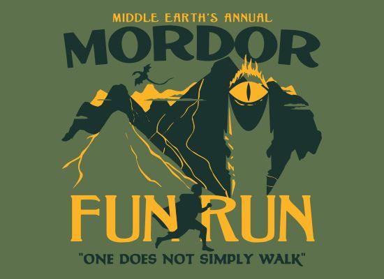 This is awesome.  Mordor Fun Run t-shirt, SnorgTees.