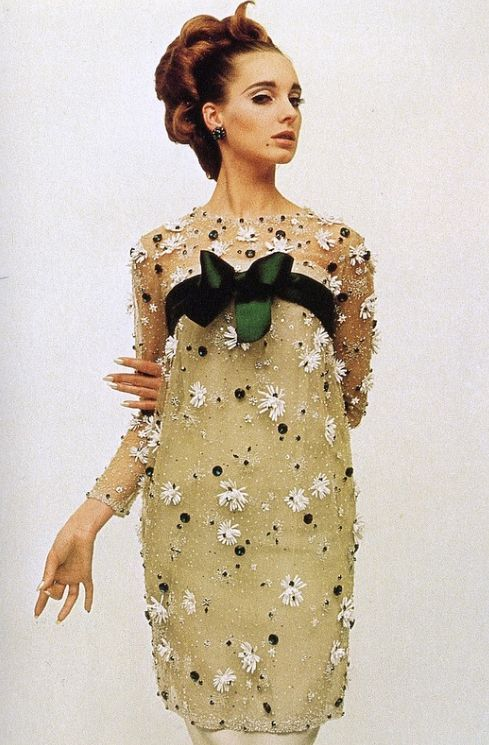 Model Antonia for the Yves Saint Laurent Spring/Summer Collection, 1964. Photo by William Klein.