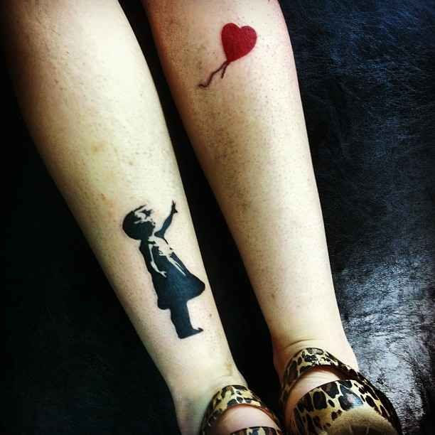 41 Tattoos inspired by works of art. Love this! Especially cause I have the girl with the red balloon on my feet :)