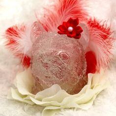 Veilleuse led forme de chien créer en résine cristal