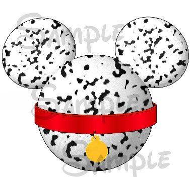 Dalmatian (101) inspired DIGITAL printable Mickey head file DIY. $2.00, via Etsy.