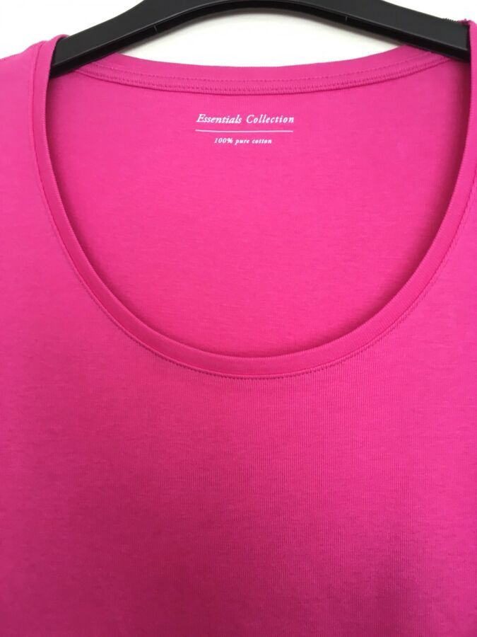 retail prices really comfortable online retailer M&S Stay New cotton Shocking Pink top t-shirt Ladies size 12 new ...