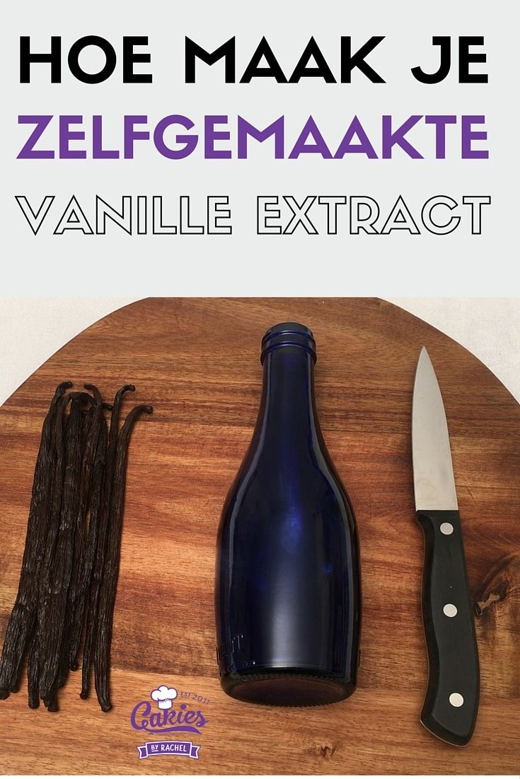 Vanille extract maken is heel makkelijk en zeker de moeite waard! Het enige dat je nodig hebt is vanillestokjes, wodka, een fles en geduld.