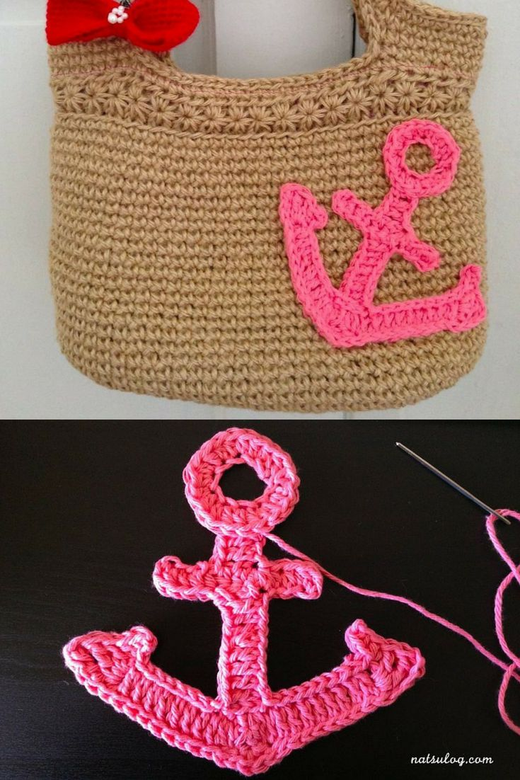 Crochet Pattern: DIY Large Crochet Anchor Design For Nautical Style