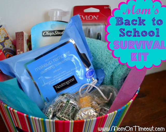 Who says the kids get to have all the fun?!?  Mom's Back-to-School Survival …